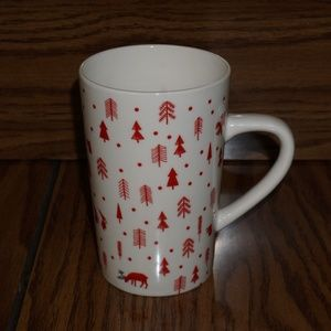 STARBUCKS tall holiday mug gnomes trees 16 oz.
